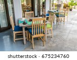 chairs and counters  coffee... | Shutterstock . vector #675234760