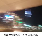 blurred light trails   abstract ... | Shutterstock . vector #675236896