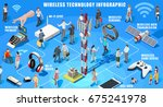 mobile app wireless connecting... | Shutterstock . vector #675241978