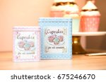 cupcakes and biscuits metallic... | Shutterstock . vector #675246670