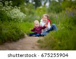 children are playing on green...   Shutterstock . vector #675255904