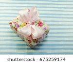 beautiful romantic gift box and ... | Shutterstock . vector #675259174