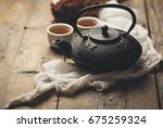 still life with traditional... | Shutterstock . vector #675259324