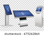 set of white promotional... | Shutterstock .eps vector #675262864