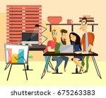 office team concept vector... | Shutterstock .eps vector #675263383