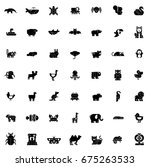 animals icons | Shutterstock .eps vector #675263533