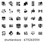 e commerce and shopping icons | Shutterstock .eps vector #675263554