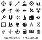 scientific study icons | Shutterstock .eps vector #675263560