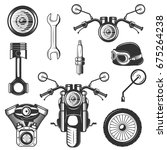 vector set of vintage... | Shutterstock .eps vector #675264238