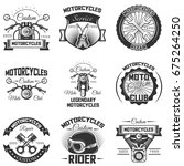 vector set of vintage... | Shutterstock .eps vector #675264250