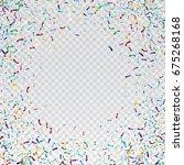 flying christmas confetti ... | Shutterstock .eps vector #675268168