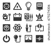energy electricity icons set | Shutterstock .eps vector #675274306