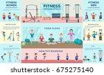 sport fitness infographic...   Shutterstock .eps vector #675275140