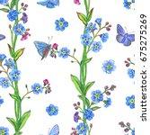 seamless watercolor pattern of... | Shutterstock . vector #675275269