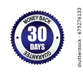 blue 30 days money back... | Shutterstock .eps vector #675276133