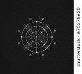 sacred geometry. vector... | Shutterstock .eps vector #675278620