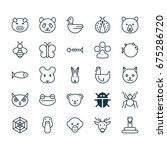 zoo icons set. collection of... | Shutterstock .eps vector #675286720