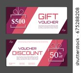 gift voucher template. can be... | Shutterstock .eps vector #675288208