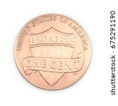 one penny coin isolated over... | Shutterstock . vector #675291190