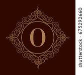 elegant monogram design... | Shutterstock .eps vector #675292660