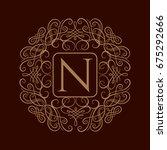 elegant monogram design... | Shutterstock .eps vector #675292666