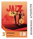 colorful jazz festival... | Shutterstock .eps vector #675295759