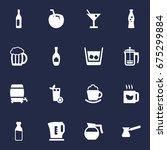 set of 16 beverages icons set... | Shutterstock .eps vector #675299884