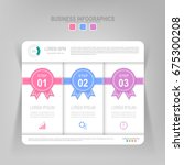 infographic template of three... | Shutterstock .eps vector #675300208