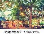 vintage tone blur image of... | Shutterstock . vector #675301948