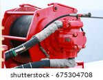 crane under maintenance routine ... | Shutterstock . vector #675304708
