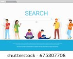 online search bar concept... | Shutterstock .eps vector #675307708