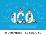 ico concept vector illustration ... | Shutterstock .eps vector #675307750
