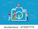 camera and photo concept vector ... | Shutterstock .eps vector #675307774