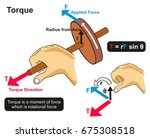 torque example physics lesson...   Shutterstock . vector #675308518