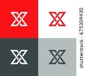 letter x logo icon design... | Shutterstock .eps vector #675309430
