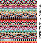 tribal seamless colorful... | Shutterstock .eps vector #675309856