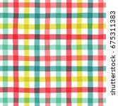 seamless plaid pattern in... | Shutterstock .eps vector #675311383