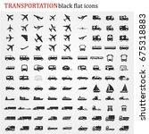 transportation icons vector   Shutterstock .eps vector #675318883