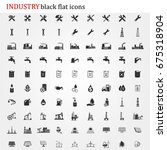 industrial icons vector | Shutterstock .eps vector #675318904