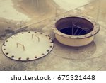 opened rusty manhole on the... | Shutterstock . vector #675321448