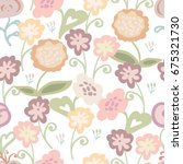seamless pattern with cute... | Shutterstock .eps vector #675321730