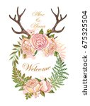 wedding set for decoration.... | Shutterstock .eps vector #675325504