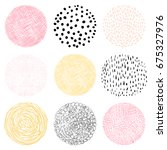 vector hand drawn circles with... | Shutterstock .eps vector #675327976