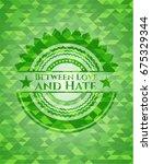 between love and hate green... | Shutterstock .eps vector #675329344