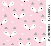 seamless pastel fox pattern... | Shutterstock .eps vector #675330979
