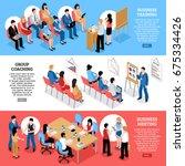 business training group... | Shutterstock .eps vector #675334426