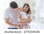 a portrait of parent with her 3 ... | Shutterstock . vector #675334438