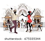 series of the streets with... | Shutterstock .eps vector #675335344