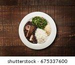 brazilian feijoada | Shutterstock . vector #675337600