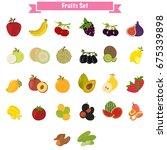 big set of different sweet... | Shutterstock .eps vector #675339898